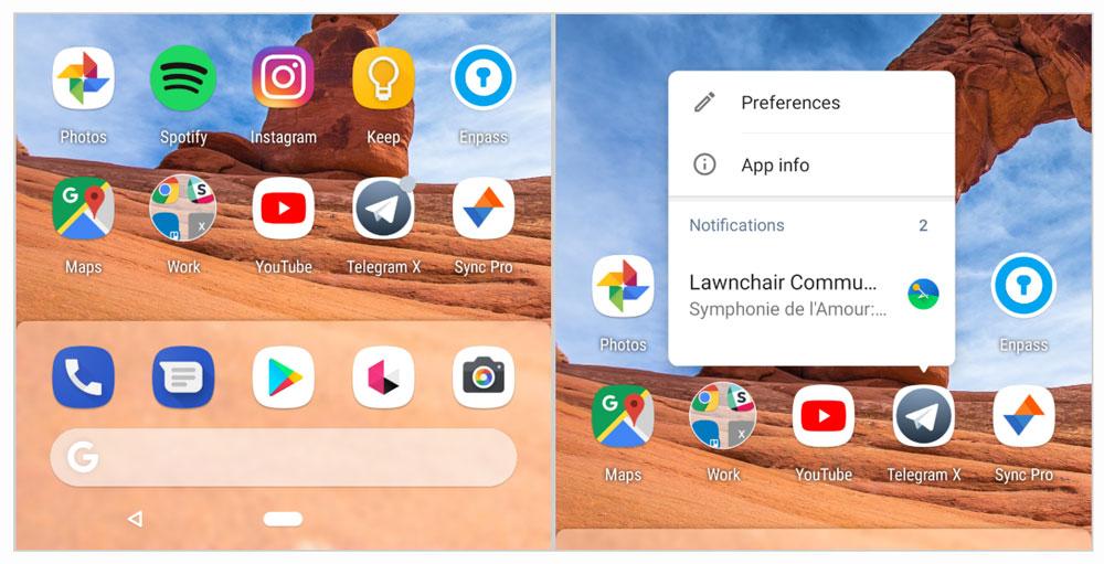 Evie-Launcher-notification-dots-techie