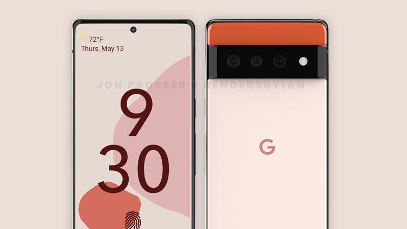 Google Pixel 6 and Pixel 6 pro design